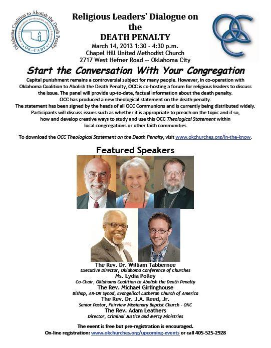 Religious Leaders Forum flyer