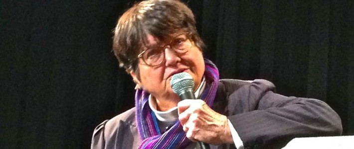 Sister Helen Prejean urges students to get involved in abolishing the death penalty