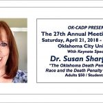 OK-CADP 27th Annual Meeting & Dinner to feature  keynote Dr. Susan Sharp Crow