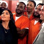 Kim Kardashian West (left) with Marc Howard (right) at his class at the DC jail.